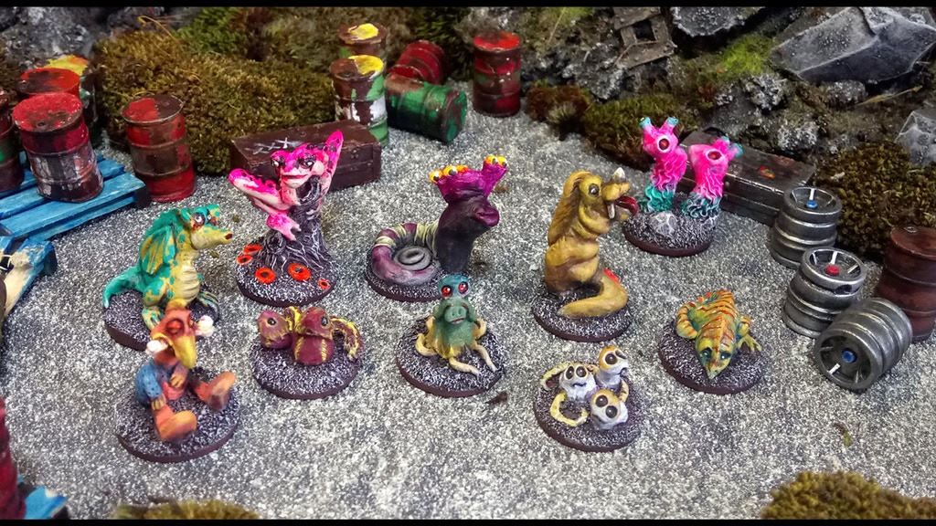 Hagworld Critters Hagworld Critters is a set of 10 resin model beasties for gaming with.
